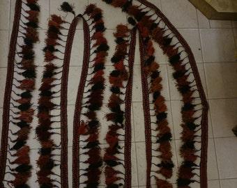 Kurdish black  tent belt with tassels