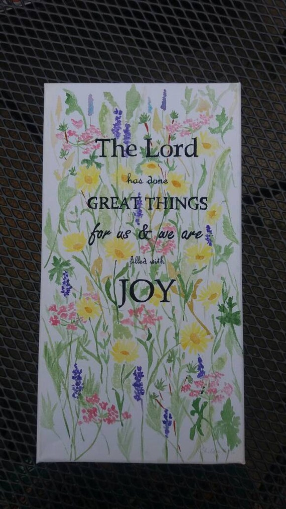 Filled with joy canvas