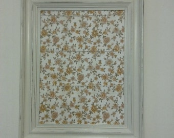 Shabby chic picture frame peg photo memo board vintage wallpaper