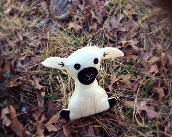 Handmade felt sheep toy, sheep doll, sheep softie- Mary's Little Lamb