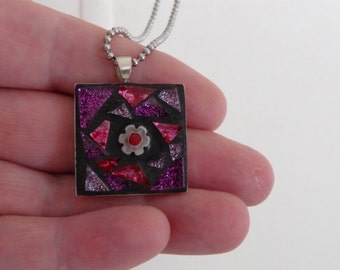 SOLD Mosaic pendant with chain