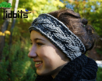Leo Braided Crochet Headband - Grey Headband