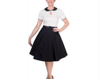 Black & White swing rockabilly vintage dress