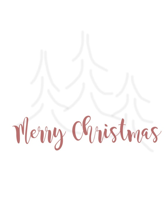 Merry Christmas / Calligraphy / Digital Download File