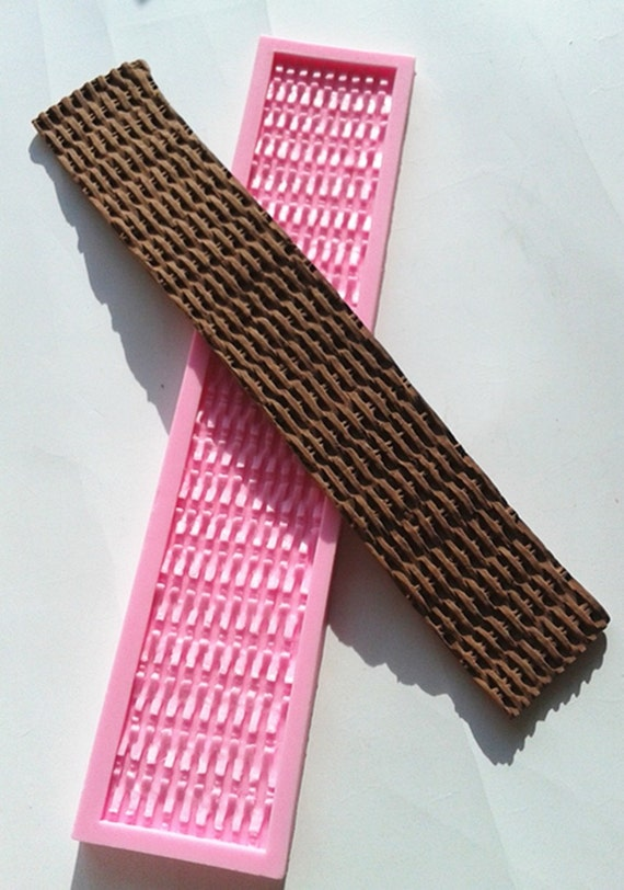 Basket Weaving Molds : Silicone easter basket weave fondant cake border by
