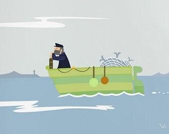 Fisherman - artwork for kids