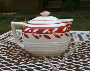 Vintage teapot, hand painted in Japan