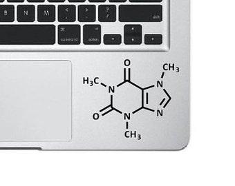 Caffeine Molecule Laptop Decal