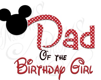 Daddy Birthday Girl Mickey Family Shirt DIY Mickey Mouse Head Disney Family Download Iron On Craft Digital Disney Cruise Line Magnet Shirts