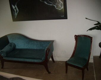 French couch and chair