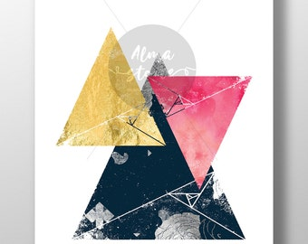 INSTANT DOWNLOAD - Art - Picture - Géometric - Triangle