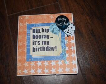 It's my Birthday handmade scrapbook mini album