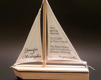 Sailboat Invitations #B857 (Sample) / Wedding Invitations, Unique Invitations, Handmade Invitations