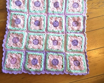 Chrochet willow square blanket