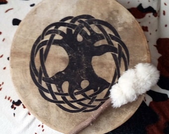 Shaman drum with celtic life tree