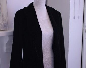 Midnight black velvet blazer