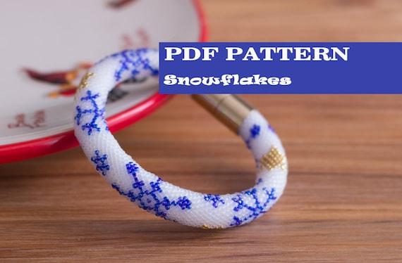 Pdf pattern for beaded crochet bracelet seed beads crochet rope