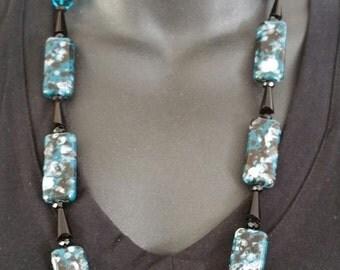 Handmade necklace set, Hand strung necklace set, statement necklace set,