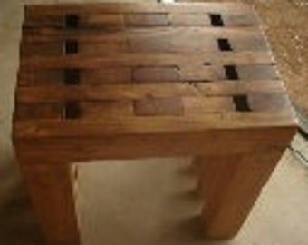 Hand Made Wood Stool