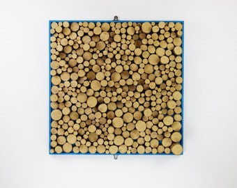 Large Hand Crafted Bark Wooden Wall Art