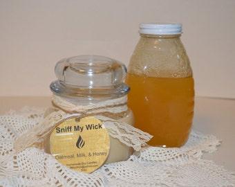 Oatmeal Milk & Honey Homemade Soy Candle