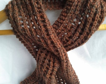 Autumn Hand Knit Woollen Pull through Scarf