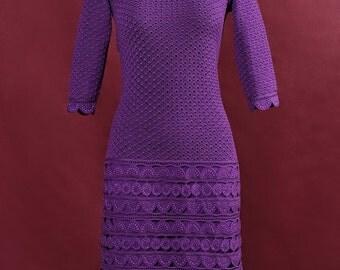 Crochet lace Purple