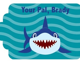 Gift Tags Personalized- Shark