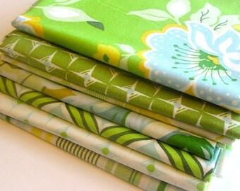 Fat Quarter Bundle-Nicey Jane Green #2 by Heather Bailey