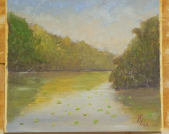 Original Plein Air Oil Painting Impression Birch Park