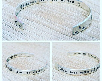 Secret message bangle|personalised bangle|handstamped|custom jewellery|personalised jewellery