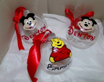 Hand Painted Character Ornaments