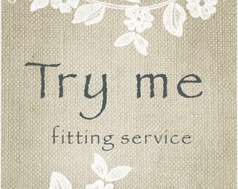 Try me * Fitting service for shoes * Perfect fit of wedding shoes * Try on wedding shoes
