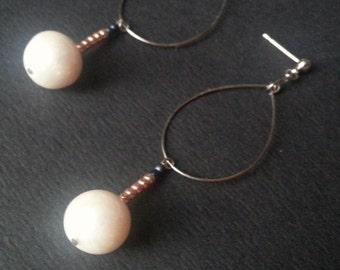 Teardrops Fresh water pearls earrings
