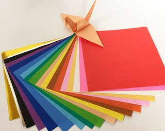 """Origami Paper Sheets - Colored Paper Assortment - 160 4.6"""" Sheets"""