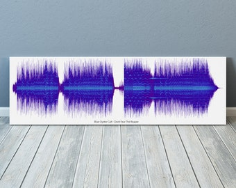 Blue Oyster Cult - Dont Fear The Reaper - 24x8 Canvas, Poster or Digital Image - Free P&P, Sound Wave Art, Audio Art