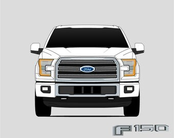 Ford F-150 Poster // F-Series // Ford Truck // SVT // Pickup Truck