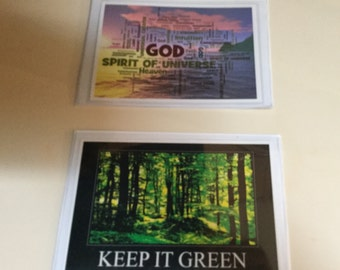 Two Recovery/Spiritually Themed Magnets