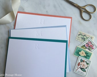 Letterpress Personal Stationery | Monogram Notecards | Thank You Cards | Stationery Set