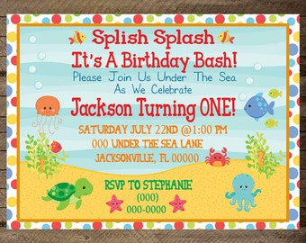under the sea invite ocean invite under the sea invitation boy under the - Under The Sea Party Invitations