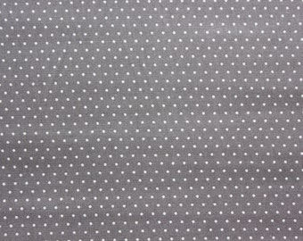 Polkadot, Polkadot Fabric, Polka dot Fabric, Dark Gray, Tiny Dots, Sand, Dressmaking Quilting Sewing Supplies, Wide, Half Metre