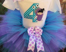 So Affordable Monsters Inc Boo Birthday Party Tutu Outfit Dress Set Handmade