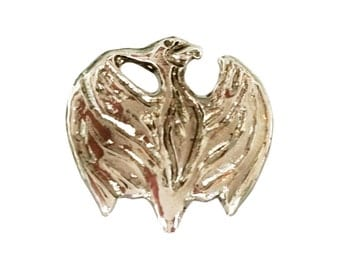 Phoenix Bird Jewelry Brooch. Mythical creature. Lucky charms Rebirth Signet. Specially designed for masonic Senior Officers at 18th Grade