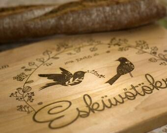 Wedding cutting board, Custom Cutting Board, Wedding Gift for couple, wedding cutting board, Engraved board, anniversary, love birds