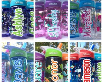Personalized Name Decals, Decals for Kids Camelbak Water Bottles, personalized camelbak decals, water bottle name decals