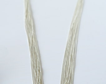20 Strand Liquid Silver Necklace