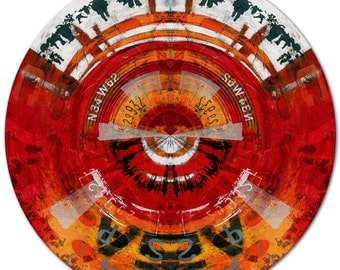 MOVE ON VII Circular (Ø 100 cm) by Sven Pfrommer - Round artwork is ready to hang
