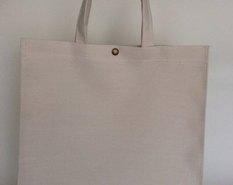 Bag raw color made with awning canvas