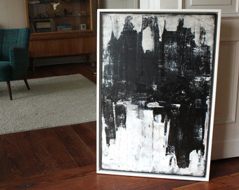 """Abstract art title """"SHADOW"""" 60 x 90cm"""