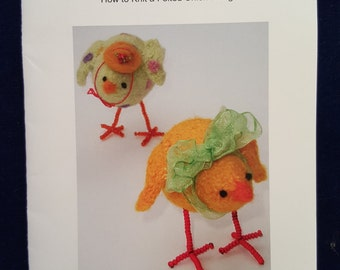 Woolly Chick felted knit chick pattern Marie Mayhew